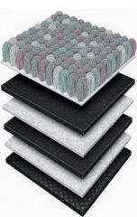 Слои плиточного ковролина