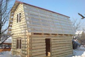 ломаная или мансардная  крыша