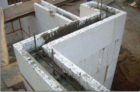 заливка цементным раствором несъемной опалубки для изодома