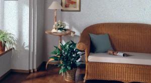 Флоковое покрытие стен — отличный вариант для кухни, ванной и прихожей