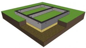 Фундамент мелкозаглубленный для лёгких строений